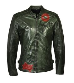 099 GREEN LEATHER JACKET