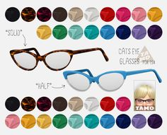 tamo: [TS4] Cat's Eye Glasses for TS4 Ladies