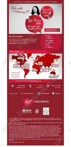 Company:    Virgin Holidays Ltd    Subject:    Hurry! The Virgin Holidays Sale ends Tuesday             INBOXVISION is a global database and email gallery of 1.5 million B2C and B2B promotional emails and newsletter templates, providing email design ideas and email marketing intelligence http://www.inboxvision.com/blog