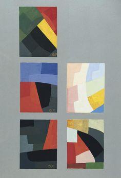 Otto Freundlich, FÜNF KLEINE KOMPOSITIONEN, 1931, Auktion 822 Moderne Kunst 4. Juni 2002, Lot 183