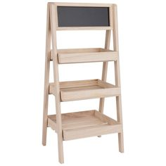 Bleached Ladder Shelf with Blackboard on Maisons du Monde. Take your pick from our furniture and accessories and be inspired! Wood Bookshelves, Ladder Bookcase, Farmers Market Display, Plant Shelves, Store Design, Decoration, Small Bathroom, Coffee Shop, Shelving