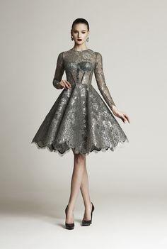 All fabrics are black and silver - Lace: Solstiss (55% metal polyester, 45% polyamide) - Fabric: crine nylon (100% nylon), 100% silk, chiffon (95% silk 5% elastane), tulle a rete…