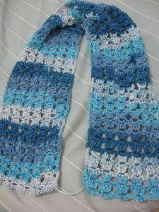 Angel Stitch Scarf   Using a variation of the puff stitch you can come up with this lovely Angel Stitch Scarf. Free crochet scarf patterns like this look best when you use a variegated yarn instead of changing colors