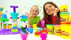 Развивающие игры для детей ПЛЕЙ ДО. Набор Play Doh Замок мороженого, Нас...