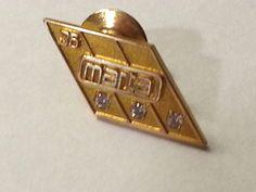 MARTA 1/10 10k Gold TERRYBERRY Employee 35 YRS Award Pin ATLANTA TRANSPORTATION