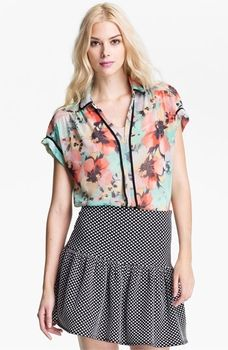 Ace Delivery Floral Print Collar Top from Nordstrom