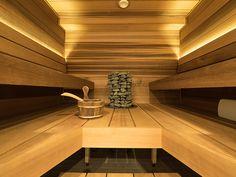 A beautiful modern Finnish sauna. / Kaunis ja moderni suomalainen sauna. www.valaistusblogi.fi