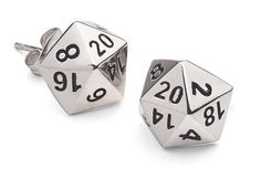 These Polyhedral Dice Stud Earrings are going to look good, whether you are a rogue, a Paladin, an Orc, or whatever. Stainless steel are a great Geek Jewelry, Cute Jewelry, Jewelry Accessories, Jewelry Design, Fashion Jewelry, Body Jewelry, Fandom Jewelry, Jewlery, Unique Jewelry