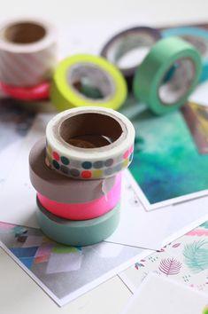 Masking tape magnets / Aimants maskin tape  www.fraise-basilic.com