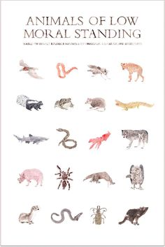 The artwork of R.S. Posnak. Animals of Low Moral Standing.