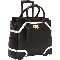 """Buy the Cabrelli Color Block 15.6"""" Laptop Rollerbrief at eBags - Pop color trim adds a distinctive touch to this rolling laptop bag from Cabrelli.  The Cabrelli Colo"""