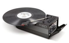 Portable USB record player/cassette deck combo