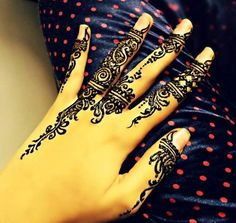 Simple Eid Mehndi Designs 2014 For Hands Images Pakistani Indian #EidHenna