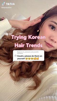 Hair Up Styles, Medium Hair Styles, Kawaii Hairstyles, Cool Hairstyles, Ponytail Hairstyles Tutorial, Kpop Hair, Makeup Makeover, Aesthetic Hair, Asian Makeup Natural