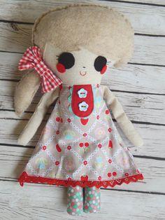 Softie Handmade Doll Dinah by MsBittyKnacks on Etsy
