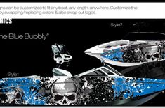 Boat Wraps | Marine Vinyl Graphics | Wake Graphics Sanger Boats, Red Crafts, Boat Wraps, Kiss Of Death, How To Wrap Flowers, Trash Polka, Rough Riders, Culture Shock, Boat Painting