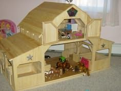 Free Woodworking Plans for toy Barn - Free Woodworking Plans for toy Barn , Free Wood toy Barn Plans Toy Horse Stable, Horse Tack, Wooden Toy Barn, Woodworking Plans, Woodworking Projects, Woodworking Basics, Woodworking Patterns, Kids Barn, Making Wooden Toys