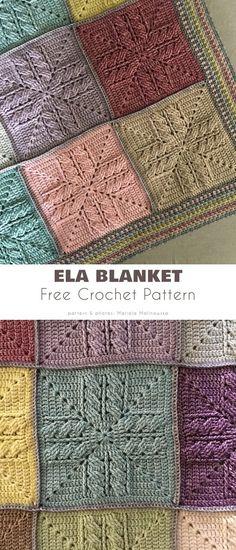 Crotchet Blanket, Crochet Squares Afghan, Crochet Granny Square Afghan, Knit Squares Blanket, Crocheted Afghans, Granny Squares, Knitted Blankets, Free Crochet Square, Crochet Square Patterns