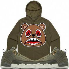 84fc3a41fa26 Baws T-Shirt CINNAMON BAWS Sneaker Tees Shirt - Jordan 12 Olive Chris Paul