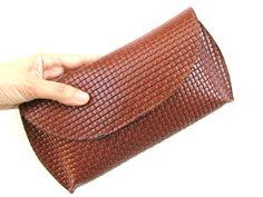 Women's Leather Clutch Women's Leather by AmielLeatherDesign