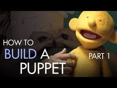 Character Effects Tutorial - How to Build a Hand and Rod Puppet: Understructure with BJ Guyer Felt Puppets, Glove Puppets, Puppets For Kids, Marionette Puppet, Hand Puppets, Puppet Tutorial, Puppet Patterns, Doll Patterns, Puppet Crafts