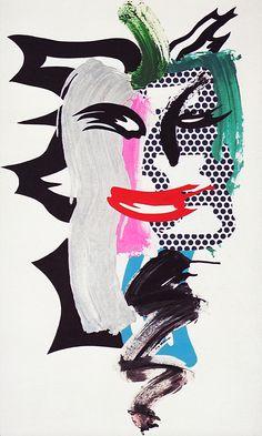 'Brush Stroke Woman', by ROY LICHTENSTEIN, pop art.