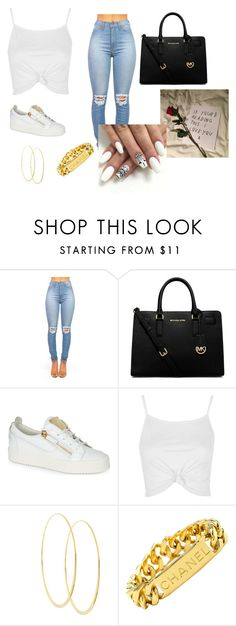 """Join my group// Slayers"" by trillparadise on Polyvore featuring MICHAEL Michael Kors, Giuseppe Zanotti, Topshop, Lana and Chanel"