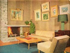 1954 mid century modern living room #retrohome #retrofurniture #retrorenovation http://www.retrorealtygroup.com