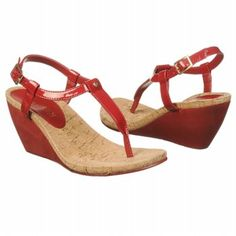 Love these bright red wedges - a must for 4th of July! LAUREN RALPH LAUREN Women's Rosalia Sandal