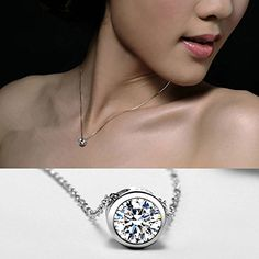 Women Fashion 925 Sterling Silver Inlaid Zircon Concentric Round Pendant Gifts 1pc >>> Want to know more, click on the image.