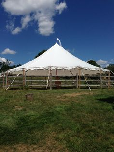 Our corral can be tented, with one like this from Bay State Tents!