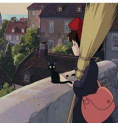 Studio Ghibli Art, Studio Ghibli Movies, Studio Art, Kiki Delivery, Kiki's Delivery Service, Hayao Miyazaki, Totoro, Anime Group, Cartoon Profile Pics