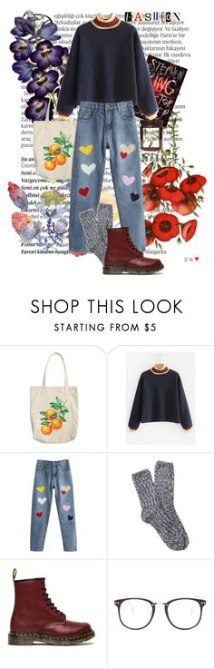 """""""Bedtime stories for a curious mind"""" by cosettender ❤ liked on Polyvore featuring Balmain, Free Press, Dr. Martens and Nasty Gal"""