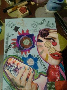 Timeless Rituals #art journal #mixed media #collage
