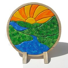 #Sunrise River Landscape Wooden Puzzle