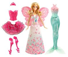 prettiest barbie ever? Barbie Fairytale Mix and Match Dress Up Playset Mattel Barbie, Barbie Sets, Barbie Dolls, Doll Clothes Barbie, Dress Up Dolls, Barbie Style, Baby Girl Toys, Toys For Girls, American Girl