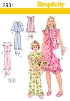 Girl's pretty sleepwear - download and make this vintage nightwear! Simplicity out-of-print patterns available online.