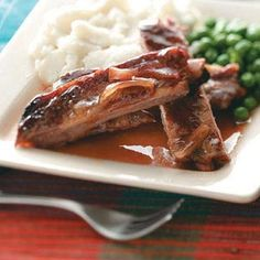 Slow Cooker Ribs Recipe from Taste of Home