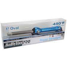 "Babyliss 1"" Oval Iron: Features: • Sol-Gel Nano Titanium/Ceramic Barrel • 50…"