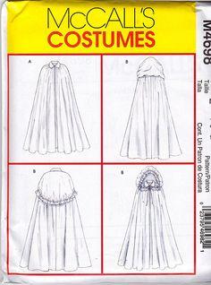 Новый McCalls ДАМЫ МЫС костюм шаблон m4698 Промахи Sz LG-XLG 2 Стили с капюшонами Uncut Factory сложенном