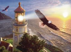 Eagle Light - 1000pc Jigsaw Puzzle by Sunsout