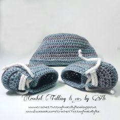 Scarpine babbucce da ginnastica a uncinetto e cuffietta neonato~misto lana//taglia 6-9 mesi~ di CrochetTattingByAle su Etsy