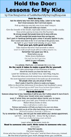 I dunno know how they did it but my parents taught us this without even having to explicitly saying the words. I love this, wish I had it printed out! The Words, Kids And Parenting, Parenting Hacks, Parenting Quotes, Parenting Plan, Parenting Articles, Peaceful Parenting, Parenting Styles, Gentle Parenting