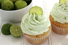 These Key Lime Cupcakes are a fun take on a traditional key lime pie topped off with luscious fluffy key lime buttercream.