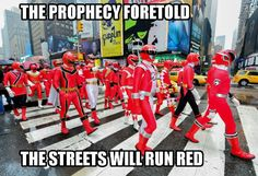 Power Rangers celebrates its anniversary by taking over New York - Nerd Reactor Power Rangers Funny, Power Rangers Cosplay, Power Rangers Ninja Storm, Power Rangers In Space, Go Go Power Rangers, Mighty Morphin Power Rangers, Power Rangers Episodes, Power Ragers, Cultura Pop