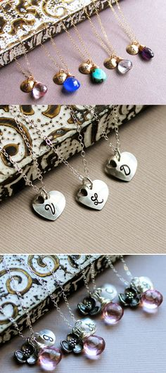 personalized bridesmaid necklaces