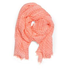 MANGO Polkadot scarf (41 AUD) ❤ liked on Polyvore featuring accessories, scarves, pink, accessories - scarves, pink scarves, pink shawl, polka dot scarves y viscose scarves