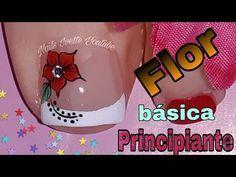 Flor básica para principiante/decoración de uñas rojo con flor/uñas fácil de hacer - YouTube Beautiful Toes, Toe Nail Designs, Manicure And Pedicure, Toe Nails, Makeup, Diva, Memes, Youtube, Beauty