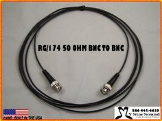 Rg 174 Signal Jumber Cable 2 Foot - Bnc to Bnc Males 50 Ohm USA Pro Made by MyStarSound. $4.99. RG174 50 OHM  BNC-BNC Males , Signal  Cable  50? RG174  are hand built in the USA by MyStarSound . We can make any length you need. Call or email team@mystarsound.com 866 445-4630