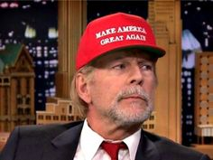 Bruce Willis Wearing a Make America Great Again cap in support of Donald Trump